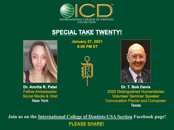 ICD TAKE TWENTY 1-27-2021 with Dr. T. Bob Davis